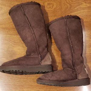 Ugg Boots Kids Toddler Size 8 Brown Tall Suede